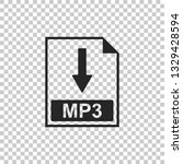 mp3 file document icon.... | Shutterstock .eps vector #1329428594