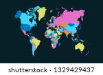 color world map vector | Shutterstock .eps vector #1329429437