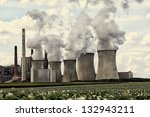 view of coal power plant...