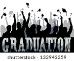 graduation in silhouette