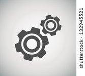 cogwheel and development icon | Shutterstock .eps vector #132945521