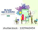 modern flat design isometric... | Shutterstock .eps vector #1329463454