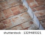 rusty metal roof on a neglected ...   Shutterstock . vector #1329485321