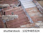 rusty metal roof on a neglected ...   Shutterstock . vector #1329485324