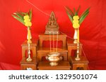 set of altar table in wedding... | Shutterstock . vector #1329501074