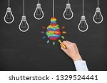 creative idea concepts with... | Shutterstock . vector #1329524441