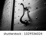 ancient bronze pull c handle.... | Shutterstock . vector #1329536024