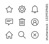 interface linear icons set | Shutterstock .eps vector #1329539681