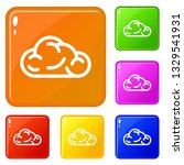 ui cloud icons set collection...