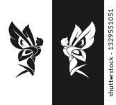 firefly fairy black and white | Shutterstock .eps vector #1329551051