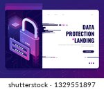 data security  lock with login... | Shutterstock .eps vector #1329551897