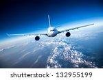 Passenger Airliner Flying In...