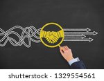 agreement solution concepts on... | Shutterstock . vector #1329554561
