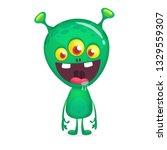cartoon funny alien. halloween...