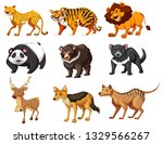 set of wild animals illustration | Shutterstock .eps vector #1329566267