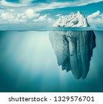 iceberg in ocean or sea. hidden ...   Shutterstock . vector #1329576701