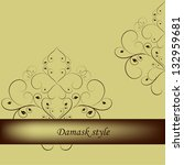 damask floral vector pattern.... | Shutterstock .eps vector #132959681