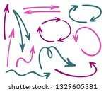 hand drawn diagram arrow icons... | Shutterstock .eps vector #1329605381