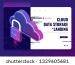 data security  protected cloud... | Shutterstock .eps vector #1329605681