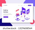 landing page template of call... | Shutterstock .eps vector #1329608564