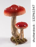 Red Dotted Mushroom Decoration
