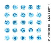 set of user interface icons | Shutterstock .eps vector #1329618944