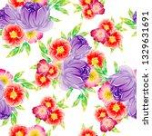 flower print. elegance seamless ... | Shutterstock .eps vector #1329631691