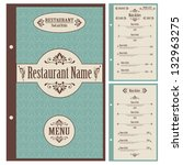 restaurant menu design template ... | Shutterstock .eps vector #132963275