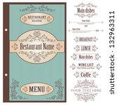 restaurant menu design template ... | Shutterstock .eps vector #132963311