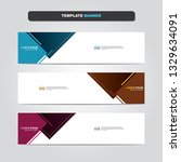 vector abstract web banner... | Shutterstock .eps vector #1329634091
