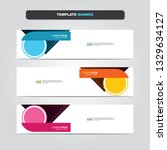 vector abstract web banner... | Shutterstock .eps vector #1329634127