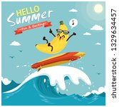 vintage summer poster design... | Shutterstock .eps vector #1329634457