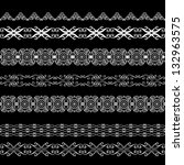 set of decorative design brushes | Shutterstock .eps vector #132963575