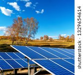 Solar Panels On The Autumn...