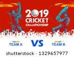 illustration of batsman playing ... | Shutterstock .eps vector #1329657977