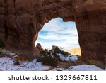 Red Rock Arch With An Irregula...