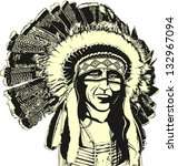 native american | Shutterstock .eps vector #132967094