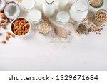 vegan non diary milk.... | Shutterstock . vector #1329671684