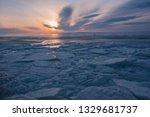 baikal is a lake of tectonic... | Shutterstock . vector #1329681737