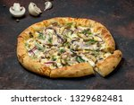 pizza with mushrooms | Shutterstock . vector #1329682481