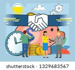 successful  profitable deal ... | Shutterstock .eps vector #1329683567