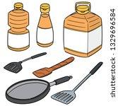 vector set of vegetable oil ... | Shutterstock .eps vector #1329696584