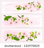 three spring banners with... | Shutterstock .eps vector #132970025