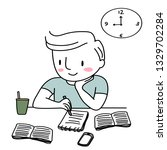 student studying  doing... | Shutterstock .eps vector #1329702284