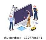 people in the form repair...   Shutterstock .eps vector #1329706841