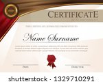 certificate modern style with... | Shutterstock .eps vector #1329710291