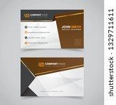 business card template concept...   Shutterstock .eps vector #1329711611