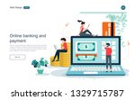 concept for online banking... | Shutterstock .eps vector #1329715787