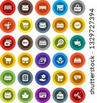 white solid icon set  house... | Shutterstock .eps vector #1329727394
