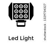 floodlight glyph icon vector  | Shutterstock .eps vector #1329734327